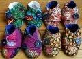 Chaussons pour bébés – 3 mois – Liberty, Wax, Java et Batik